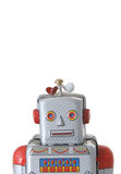 Robot. Retro toy robot on white background Royalty Free Stock Image