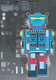 Robot. Vector Illustration of a robot with circuit board in background Stock Images