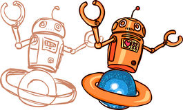 robot illustrazione di stock