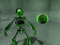 Robot. 3d render of a robot Stock Image