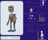 robot illustration stock