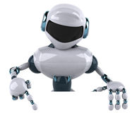 Robot. Fun 3d robot, 3d generated picture royalty free illustration