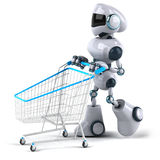 Robot. Fun 3d robot, 3d generated picture Stock Image