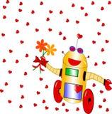 Robot affectueux Photos stock