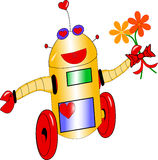 Robot affectueux Image libre de droits