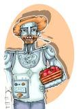 Robot Agriculturist Royalty Free Illustration