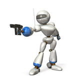 Robot aim Stock Photography