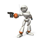Robot aim Stock Photo
