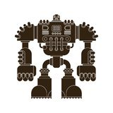 Robot aislado Futuro del guerrero del Cyborg de la batalla Vector Illustratio libre illustration
