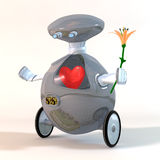 Robot amoroso Fotografie Stock Libere da Diritti