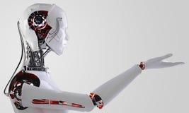 Robot androïde mensen Stock Foto's