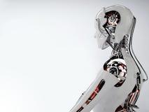 Robot androïde mensen Stock Afbeeldingen