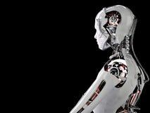 Robot androïde mensen Stock Afbeelding