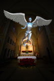 Robot Android Angel Church Altar Arkivfoton