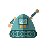robot android automation icon shadow Stock Photography