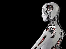 Robot android men Stock Image