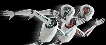 Free Robot Android Running Royalty Free Stock Photography - 34819987