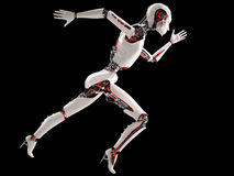 Robot android woman running Royalty Free Stock Image