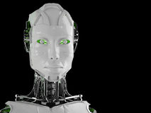 Robot android women Royalty Free Stock Photography