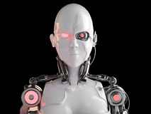 Robot android women Royalty Free Stock Photo