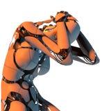 Robot in anguish royalty free illustration