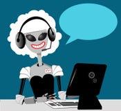 Robot answering phone Royalty Free Stock Photos