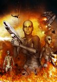 Robot apokalipsa ilustracja wektor