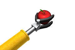 Robot Apple for the teacher Stock Images