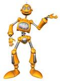 Robot arancione Fotografia Stock