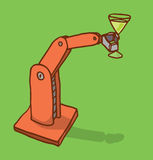 Robot arm holding a drink Royalty Free Stock Photo