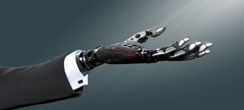 Free Robot Arm In Business Suit Royalty Free Stock Image - 216217416