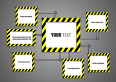 Robot arms and empty boards for text Stock Image