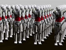 Robot army Stock Photo
