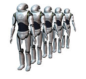 Robot army stock images
