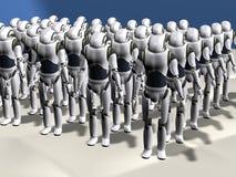 Robot army Royalty Free Stock Photo