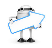 Robot with arrow Royalty Free Stock Images