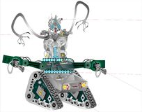 Robot as technology of our time stock illustration
