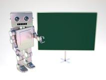 Robot At Balckboard Royalty Free Stock Image
