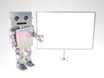 Robot At Balckboard Royalty Free Stock Photography