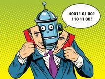 Robot au lieu d'une personne Photographie stock