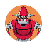 Robot automation circle icon Royalty Free Stock Photo