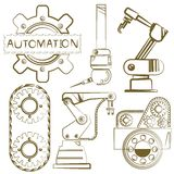 Robot, automazione Fotografie Stock Libere da Diritti