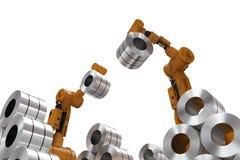 Robot avec de l'acier de petit pain illustration libre de droits