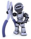 Robot avec des pliars Photos stock