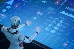 Robot avec l'affichage de hud illustration libre de droits