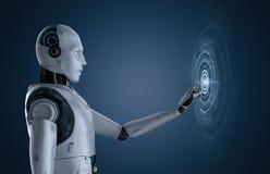 Robot avec l'affichage graphique illustration libre de droits