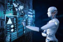 Robot avec l'affichage numérique illustration stock