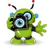 Robot avec l'appareil-photo Photographie stock libre de droits
