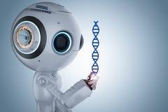 Robot avec l'hélice d'ADN illustration libre de droits