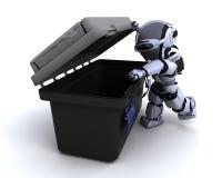 Robot avec la boîte à outils illustration de vecteur